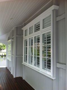 House paint on pinterest black doors grey walls and for Queenslander exterior colour schemes