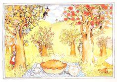 'Each Peach Pear Plum'  -  by illustrators by Allan Ahlberg, Janet Ahlberg