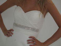 The Kate Middleton wedding dress belt, bridal sash. $89.00, via Etsy.
