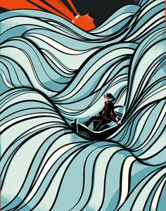 graphic designers, seas, the wave, illustrations, color, waves, pietari posti, illustration art, barcelona spain