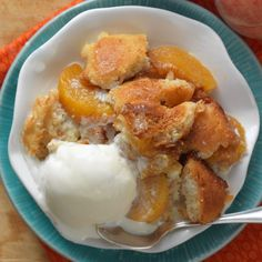 Gluten-Free Peach Cobbler – GF baking mix makes this summery fruit dessert fast and easy.