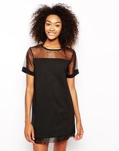 sheer t-shirt dress