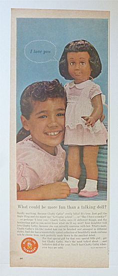 1962 Mattel Chatty Cathy with Little Girl