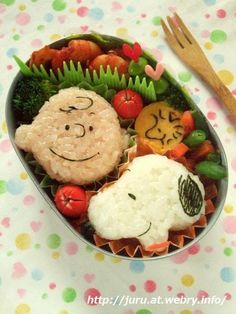 Charlie Brown & Snoopy bento