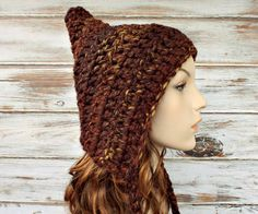 Pixie Hat in Sequoia Brown Mix