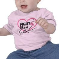Fight Like a Girl Pink Gloves - Breast Cancer T-shirt