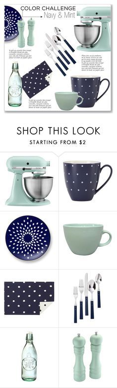 """Navy & Mint Kitchen"