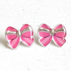 DIY Resin Post Earrings Made with Stickers! Use this method with your sorority symbol!