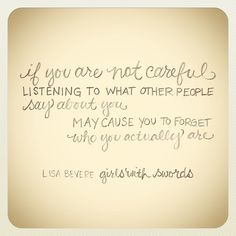 Listen to the voice of TRUTH @Kayla Barkett Barkett Barkett Barkett Barkett Ming (Lisa Bevere, Girls With Swords // by andrearhowey, via Flickr)