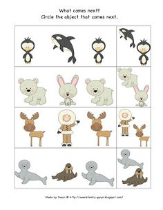 Preschool Printables: Arctic