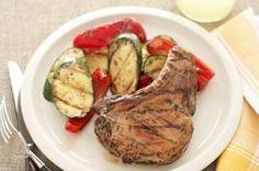 veget recip, grill veget, kraft recipes, skillet recipes, grilled vegetables, healthy foods, pork chop recipes, vegetable recipes, pork chops