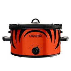 Cincinnati Bengals Crockpot - perfect for tailgating crock pots, chicago bear, crockpot cook, houston texan, denver bronco, slow cooker, quart slow, offici nfl, nfl crockpot