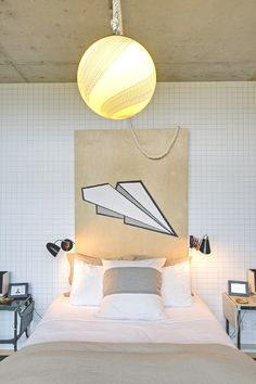 Plywood Headboard on Pinterest