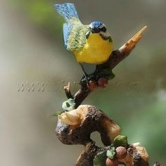 Blue Bird Figurine