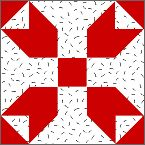 """Fool's Square Block - free 10"""" quilt block pattern from McCall's Quilting."""