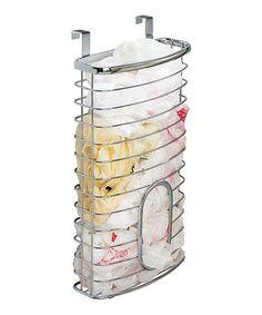 kitchendin idea, holder basket, overthecabinet bag, home kitchens, basket zulilyfind, bag holder, chrome overthecabinet, bags, interdesign