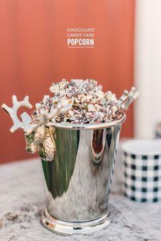 Chocolate Candy Cane Popcorn