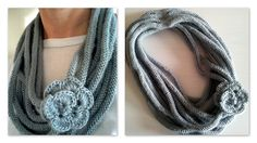 Free Pattern: Rose Medusa Cowl by Louise Fitzpatrick