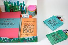 love this student design project - personalized art kits for homeless children