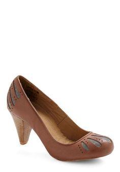 What's the Low-brown Heel | Mod Retro Vintage Heels | ModCloth.com - StyleSays