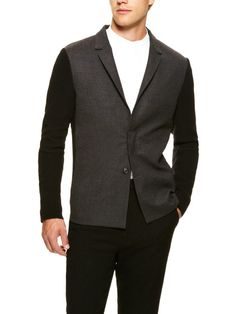 Felted and Knit Wool Blazer by Kris Van Assche on Gilt.com
