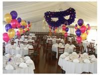 Masquerade ball with purple mask balloon sculpture