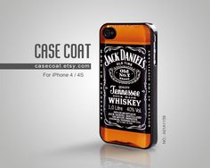 iPhone 4 Case, iPhone 4s Case - Jack Daniels, Cool, old no 7, Tennessee, iPhone Case, Case for iPhone - A01A1159. $10,99, via Etsy.
