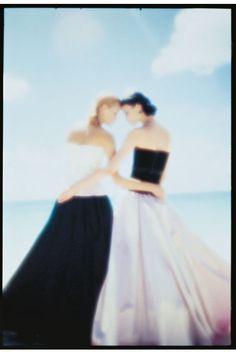 Amber Valletta and Shalom Harlow - May 1995