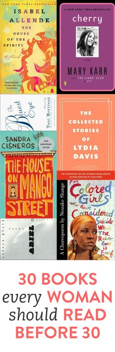 30 books to read by the time you're 30 via @bustle.com