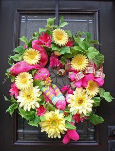 Easter Wreath Spring Wreath Sock Bunny Wreath