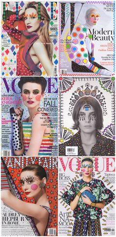 How fun are these fashion magazine covers so brilliantly electrified by Brazilian interior designer Ana Strumpf?