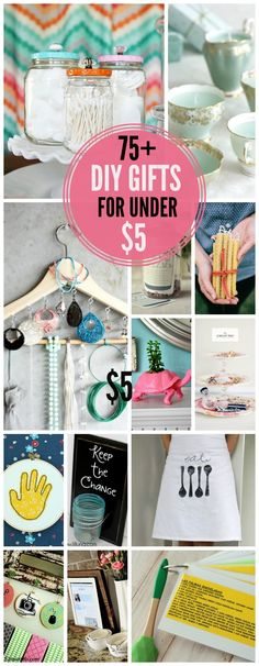 75+ Handmade Gifts for under $5! So many great gift ideas in one place! I found this just in time for the Holiday season, but the gift ideas are great for all year round. - AGlez