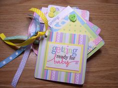 Getting Ready For Baby Premade Mini Scrapbook by HampshireRose, $20.00