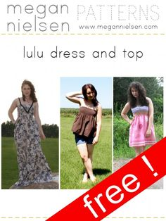 The Lulu maternity dress and top - free pattern