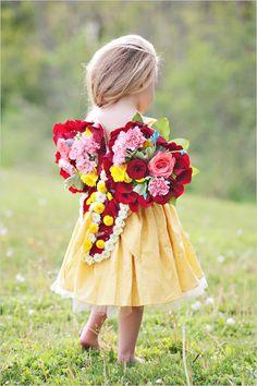 flower girl floral wedding wings