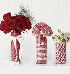 DIY Crafty Food Creations: Christmas Candy Vases
