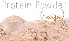 Organic Protein Powder Recipe.  DIY Protein Powder.