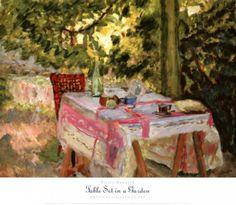 Table Set In A Garden Pierre Bonnard