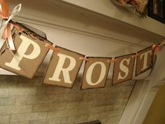PROST German Wedding Celebration Banner Photo Prop