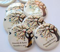 Fall Wedding Favors or save the dates