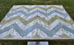 Chevron table top - Click HERE for the steps -
