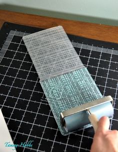 Inking embossing folders...