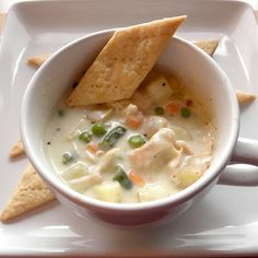Chicken Pot Pie Soup -- this sounds so delicious and very easy to put together!