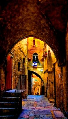 The old city of Jerusalem, Israel Imagine Yeshua, Jesus walking down this path.