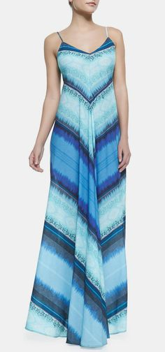 Cusp  12th Street by Cynthia Vincent - Mitered Striped Knit Maxi Dress