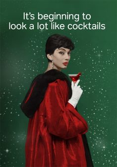 Christmas cocktails : Cath Tate Cards
