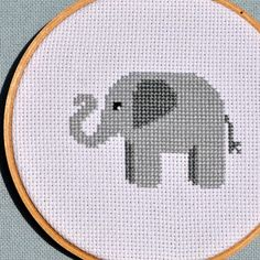 Cute Elephant Counted Cross Stitch Pattern