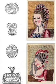 L'Art de la Coeffure des Dames Francoises  avec des estampes, ou sont representees les tetes coeffee  by Legros de Rumigny  1768-1770