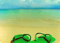 flipflops on beach