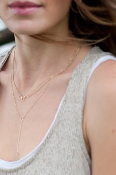Love layering necklaces